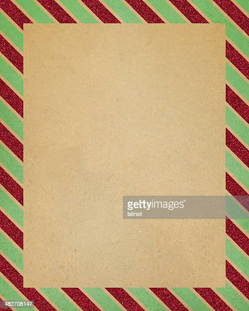 paper with striped glitter border