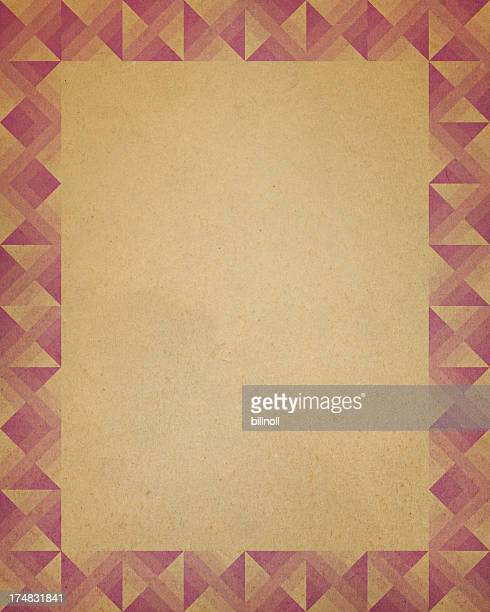paper with triangle border pattern