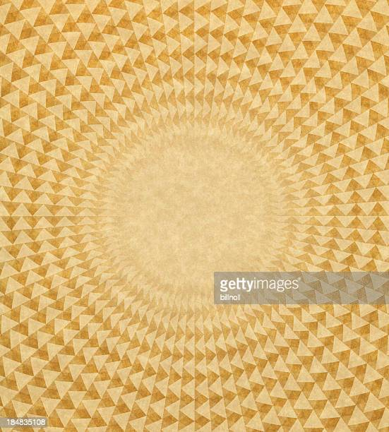 paper with triangle circle pattern