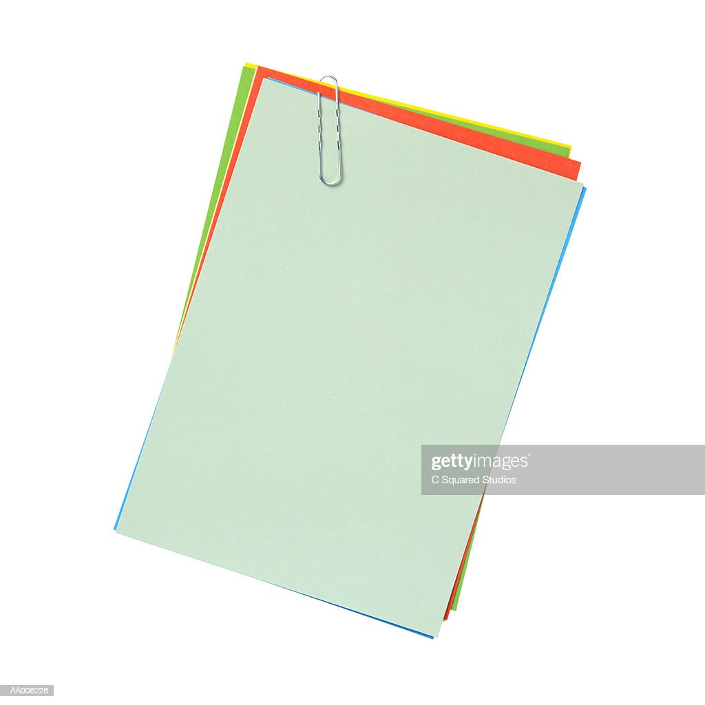 Papers with a Paper Clip : Stock Photo