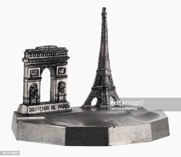 Paperweight of Eiffel Tower and Arc de Triomphe de l'Etoile