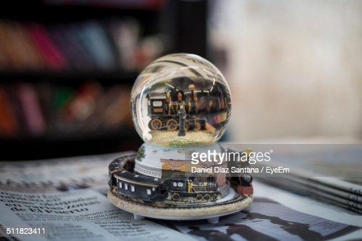 Paperweight on table at home