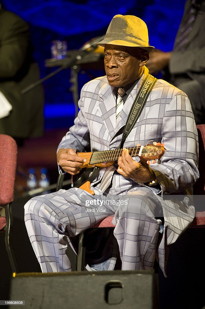 Papi Oviedo of Orquesta Buena Vista Social Club performs on stage during Voll-Damm Festival Internacional de Jazz de Barcelona at Palau De La Musica on November 21, 2012 in Barcelona, Spain.