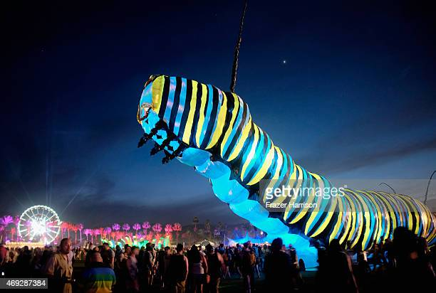 Papilio Merraculous art installation by Poetic Kinetics is seen during day 1 of the 2015 Coachella Valley Music Arts Festival at The Empire Polo Club...