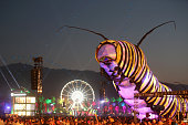 Papilio Merraculous art installation by Poetic Kinetics is seen during day 1 of the 2015 Coachella Valley Music And Arts Festival at The Empire Polo...