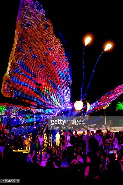 Papilio Merraculous art installation by Poetic Kinetics is seen during day 2 of the 2015 Coachella Valley Music And Arts Festival at The Empire Polo...