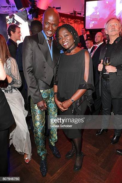 Papis Loveday and Auma Obama sister of Barack Obama during the Lambertz Monday Night 2016 at Alter Wartesaal on February 1 2016 in Cologne Germany
