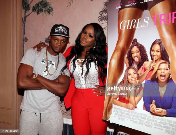 Papoose and Remy Ma attend the 'Girls Trip' screening hosted by Remy Ma at the Whitby Hotel on July 19 2017 in New York City