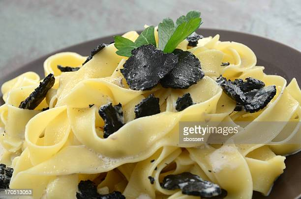 Pappardelle pasta with black truffles