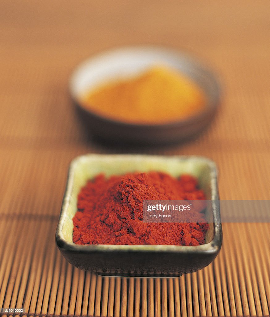 Paprika and Cumin in Bowls : Stock Photo