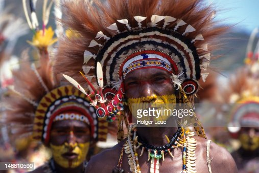 Papua New Guineans of Inawi Tribe, Port Moresby Cultural Festival.