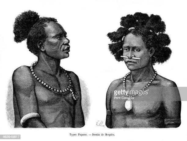 Papuan types 19th century Inhabitants of the Republic of Guinea