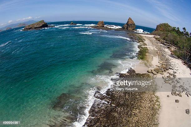 Papuma Beach Jember East Java Indonesia.