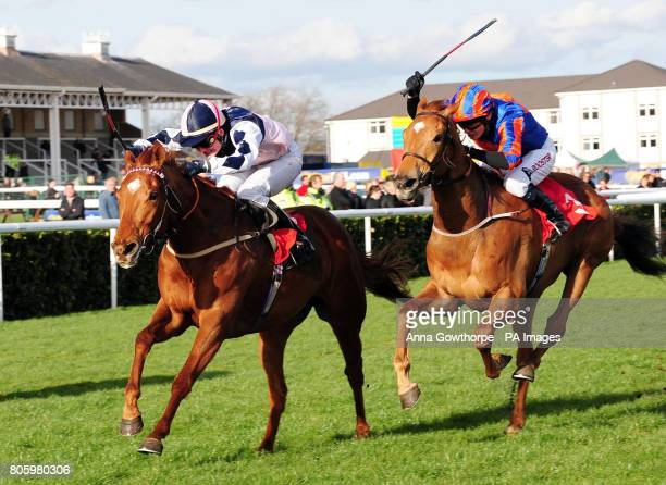 Paquerettza ridden by Frederik Tylicki wins the Society Lifestyle Leisure Magazine Fillies' Handicap during the Doncaster Shield Day at Doncaster...