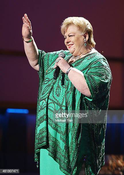 Paquita la del Barrio performs onstage during the 14th Annual Latin GRAMMY Awards held at Mandalay Bay Resort and Casino on November 21 2013 in Las...
