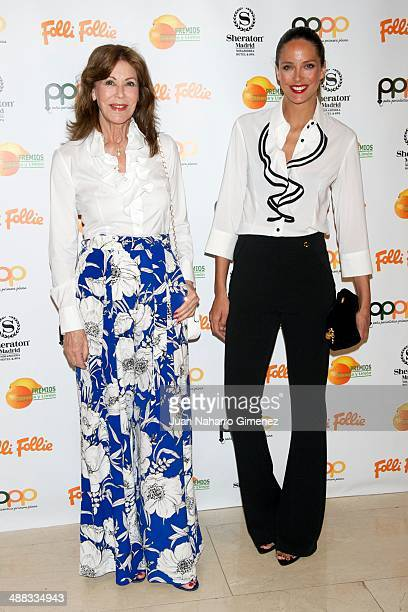 Paquita Torres and Estefania Luyk attend 'Premios Naranja Limon Awards 2013' at Sherator Mirasierra Hotel on May 5 2014 in Madrid Spain