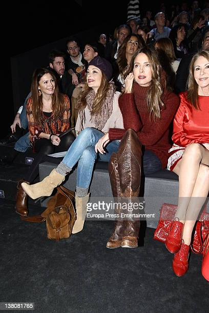 Paquita Torrres Estefania Luyck and Lucia Hoyos attend a show during MercedesBenz Fashion Week Madrid A/W 2012 at Ifema on February 2 2012 in Madrid...