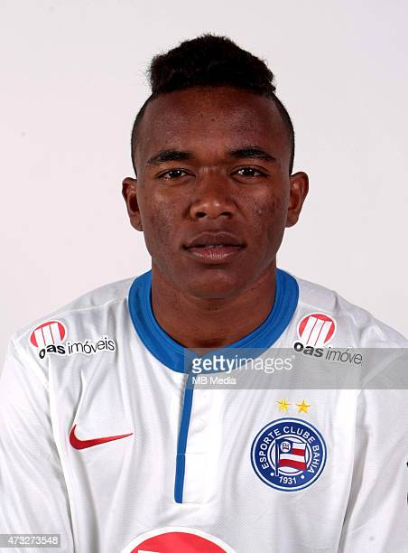 Para of Esporte Clube Bahia poses during a portrait session August 14 2014 in SalvadorBrazil