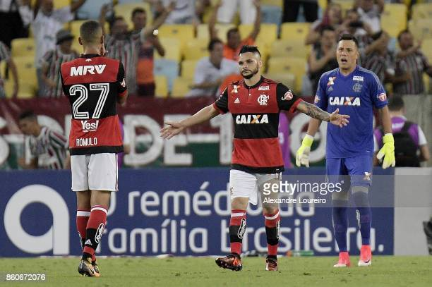 Para of Flamengo reacs after score a own goal during the match between Flamengo and Fluminense as part of Brasileirao Series A 2017 at Maracana...