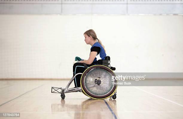 Para ラグビー選手車椅子で