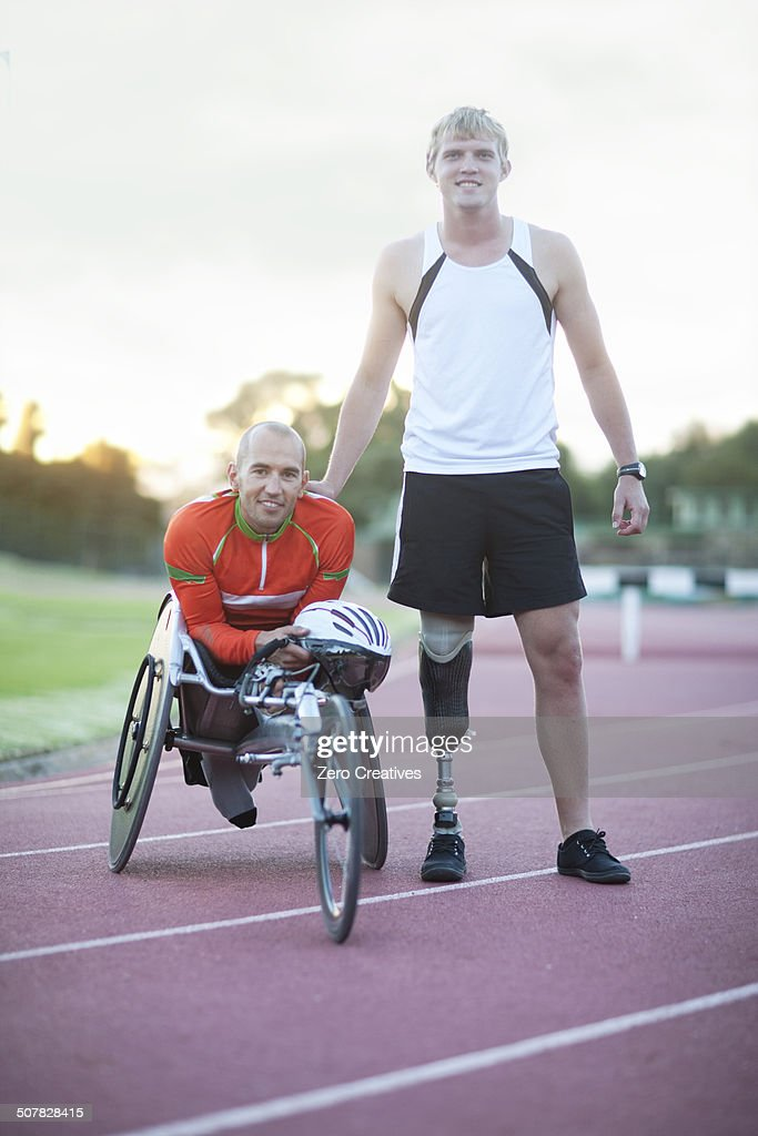 Para-athletes on track