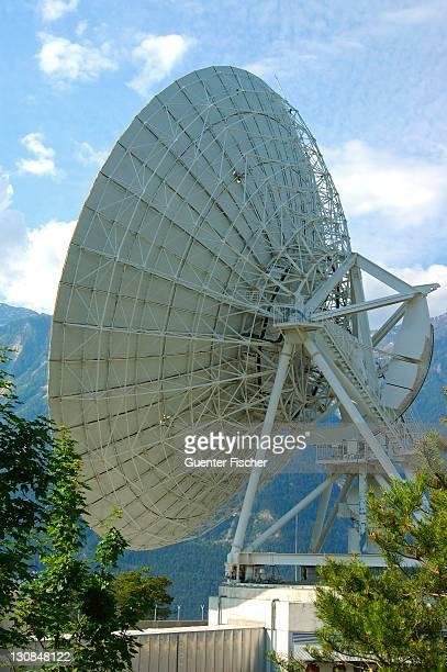 Parabolic antenna Satellite Land Earth Station Leuk Valais Switzerland