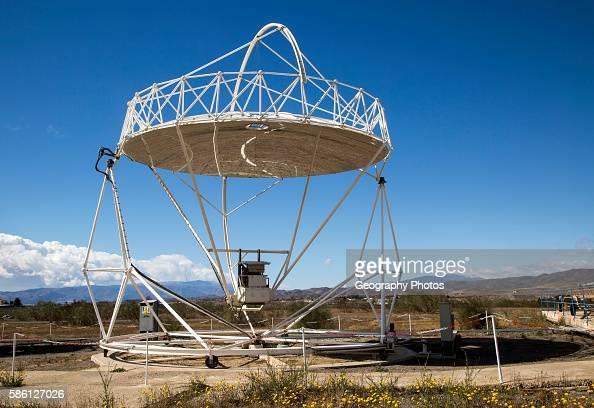 Parabolic discs at the solar energy scientific research center Tabernas Almeria Spain