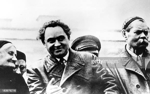 Parachkeva Dimitrova George Dimitrov And Maxim Gorky On The Tribunal Of The Lenin Tomb Moscow 1934