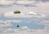 A parachute drop during a military exercise