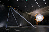 The parachute for NASA's Mars Science Laboratory passed flight-qualification testing in March and April 2009 inside the world's largest wind tunnel, at NASA Ames Research Center, Moffett Field, Califo
