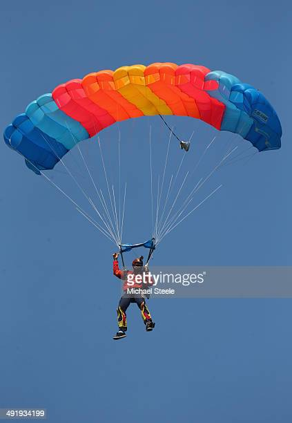 Parachutes Parachute Jumping Stock Photos and Pictures