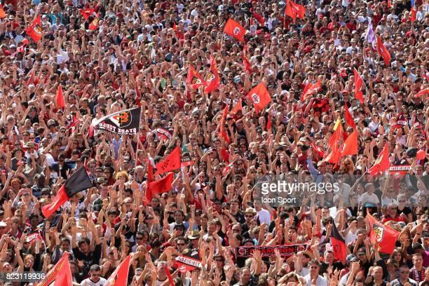 Parade des joueurs de Toulouse apres leur victoire en finale du Top 14 Place du Capitole Toulouse