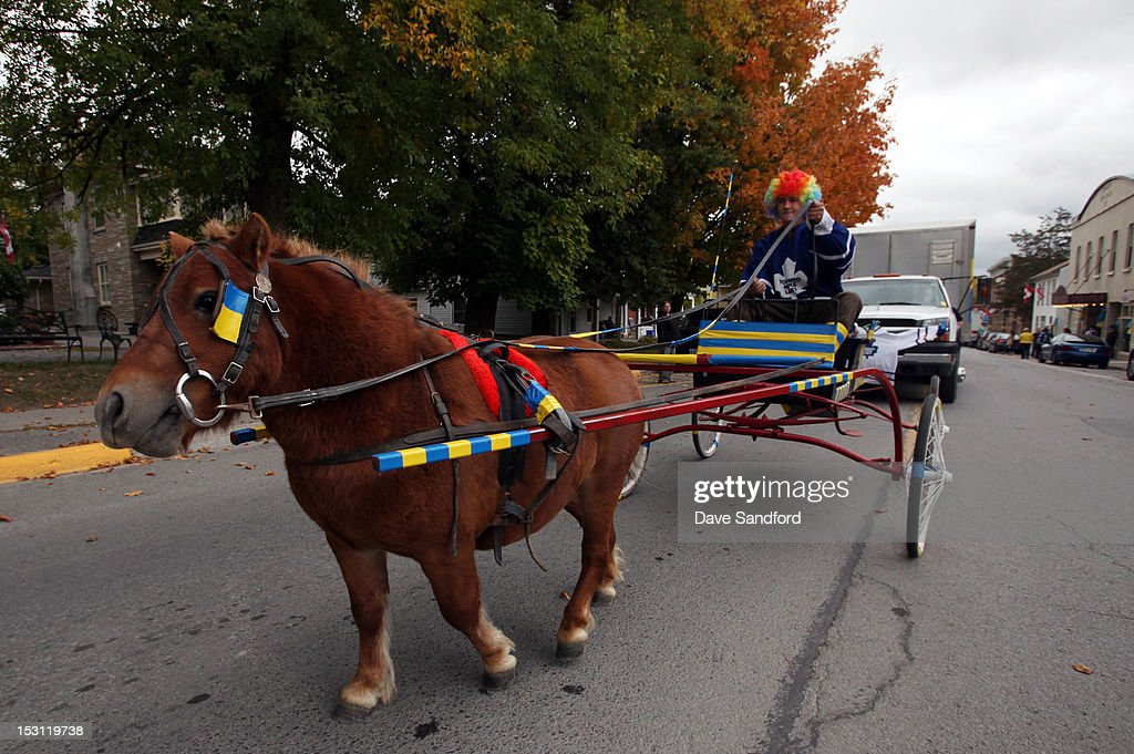 A parade featuring the Stanley Cup moves down Main Street on route to the Fun Fair at the Stirling and District Recreation Centre during Kraft Hockeyville Day 1 on September 30, 2012 in Stirling, Ontario, Canada.
