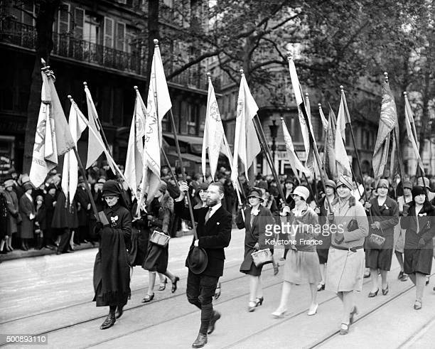 Parade for the celebration of the Joan of Arc's day in May 1928 in Paris France