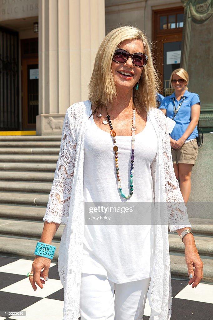 Parade Grand Marshal Olivia Newton-John attends the IPL 500 Festival Parade on May 26, 2012 in Indianapolis, Indiana.