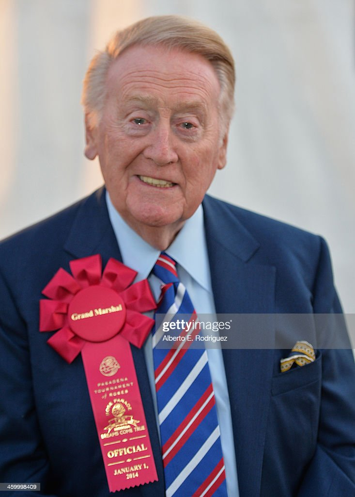 Parade Grand Marshal Vin Scully attends the 125th Tournament of Roses Parade Presented by Honda on January 1 2014 in Pasadena California