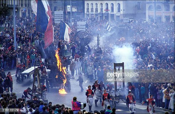 Parade of 'Royal de luxee' for closure of 'Festival des Allumes' in Nantes France on October 24 1992