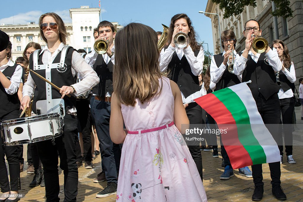 Parade of the Day of Bulgarian Education and Culture, and Slavonic Alphabet, on May 24, 2016, in Sofia, Bulgaria.