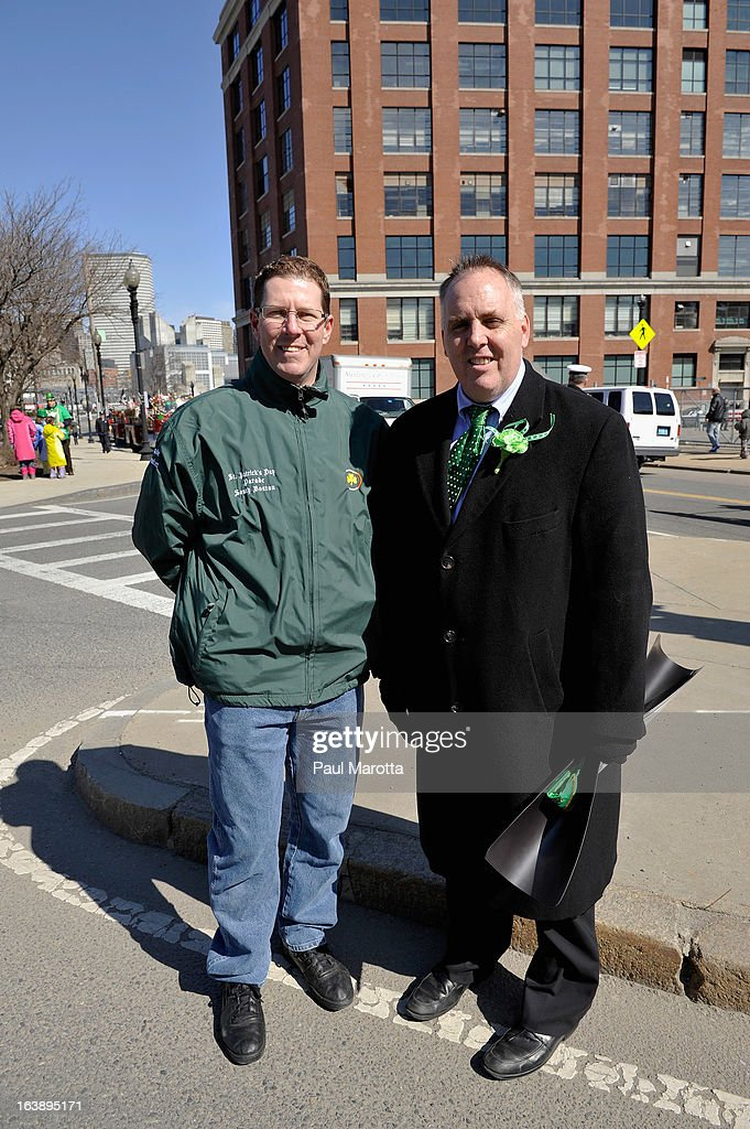 Parade Organizer Philip J. Wuschke and Chief Parade Marshall Ed Flynn attend the South Boston 2013 St. Patrick's Day Parade on March 17, 2013 in South Boston, Massachusetts.