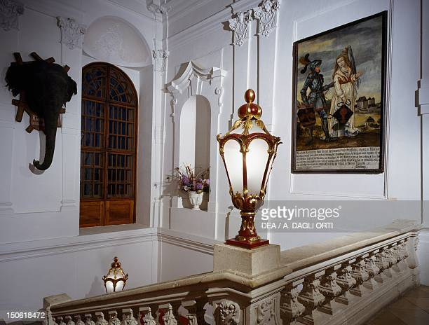 Parade staircase in the Riegersburg Castle by architect Franz Anton Pilgram Austria 18th century