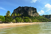 Ao Nang is considered being among the most beautiful beaches in Thailand. It is quite understandable when observing the fresh and green environment and clear water that surrounds the easy-going enviro