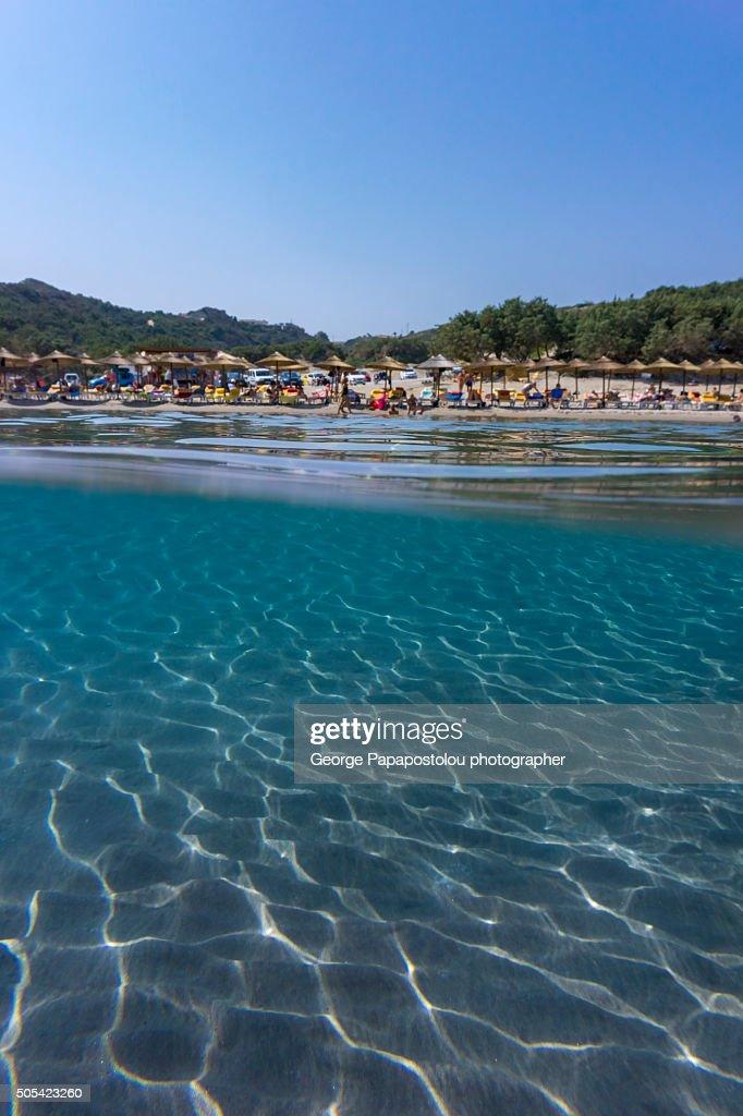 Paradise beach in Kos Greece