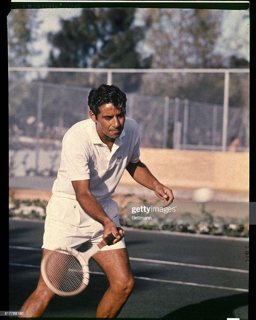 Pancho Gonzalez Playing Tennis