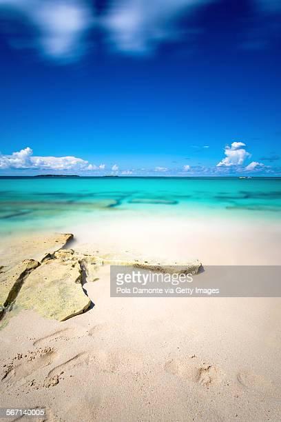 Paradise Island, idyllic beach in Nassau, Bahamas