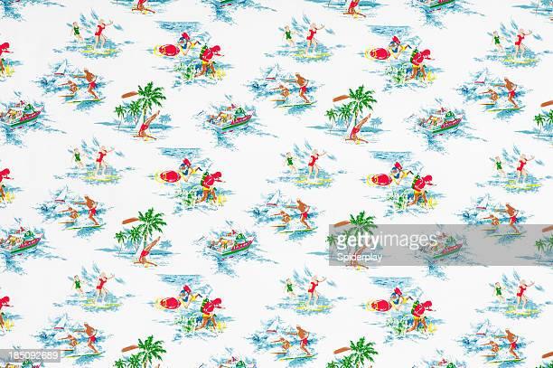 Paradise Island Vintage Fabric