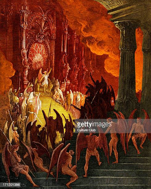Satan in Council Satan in his magnificent palace in Pandaemonium the capital of hell summons the rebel angels 'Anon out of the earth a fabric huge...