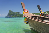 Paradise Tropical Beach with Longtail Boats - PhiPhi Islands (XX