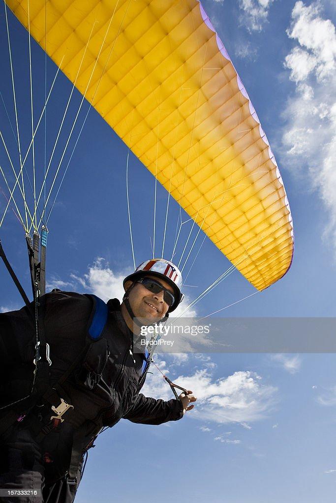 Para-glider at Take-off