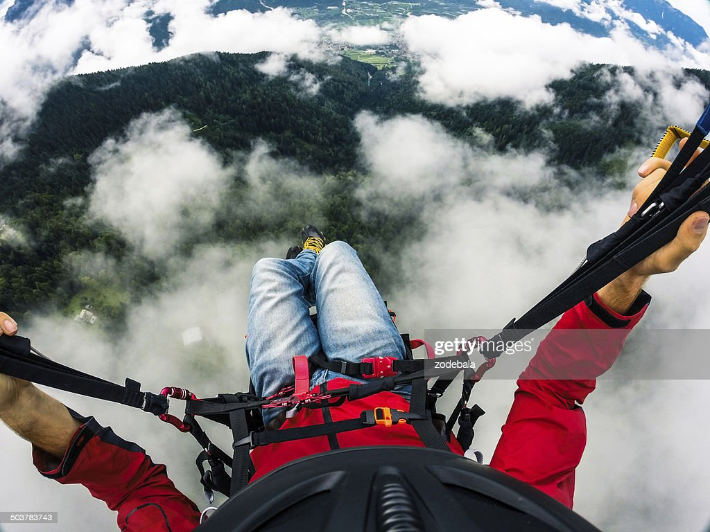 Paraglider's point of View, Flying over the Clouds