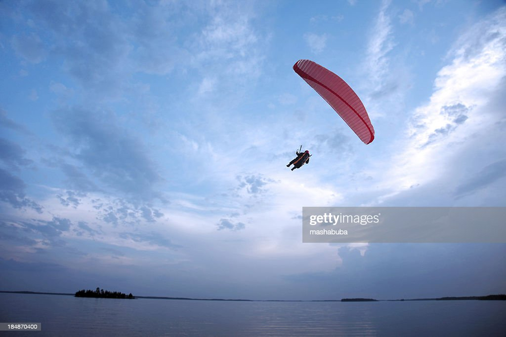 Paragliding above the Lake.